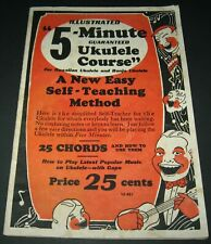 Vintage Illustrated 5-Minute Guaranteed Ukulele Course (1952) Teaching Course