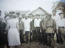 22) Foto RUSSLAND Ostfront - WH Leutnant & russische BAUERN Kinder Bevölkerung
