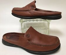 Timberland sz 7 Moc Toe Shoes Smart 75375 Brown Slide On clog Mules Women's VGUC