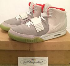 USED- NIKE AIR YEEZY 2 PLATINUM WOLF GREY US10 UK9 KANYE WEST 508214-010 2012