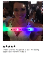 40 Personalized LED Foam Sticks Light-Up Customized Batons DJ Custom Glow Wands