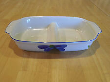 "Maxam Italy Portugal ITALIAN DAISY Divided Serving Dish 11 3/4"" 1 ea 2 available"
