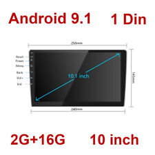 Single 1Din Android 9.1 Car Stereo GPS Navi Radio MP5 Player Bluetooth WIFI 2+16