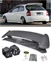 For 96-00 Civic 3DR Type R Rear Spoiler w/ Adjustable Black Alex Tilt Brackets