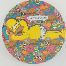 """Simpsons Homer Simpson 10"""" Dinner Plate Can't Talk Eating 2018 Duff Donuts 1 C9"""