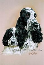 Cocker Spaniel & Pup Print by Robert J. May