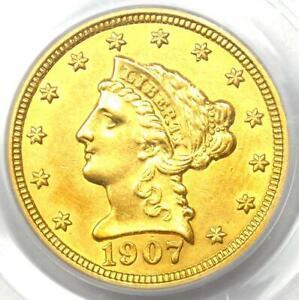1907 Liberty Gold Quarter Eagle $2.50 Coin - PCGS Genuine - AU / UNC Details