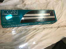 VGC! Logan 301-S Compact Mat Cutter w straight and bevel cutter and instructions