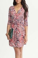 Banana Republic Issa London Red Ceramic Print Dress XS