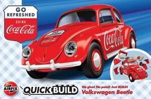 Airfix J6048 Coca-Cola VW Beetle, Modèle Auto, Quick Build - Rupture