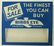 rare circa 1930 For Sale BIRDS EYE FROSTED FOODS name tag badge pinback button +