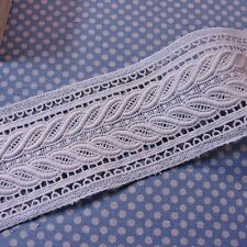 "Double Edge Embroidery Cotton Crochet Lace Trim 7.5cm(3.0"") Wide DIY Craft 1Yd"