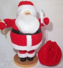"Hand Crafted Mini Santa Claus Doll 5.75"" tall new"