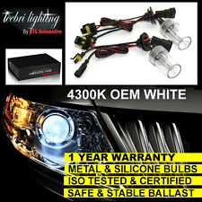 FOR RENAULT CLIO MEGANE LAGUNA MAIN BEAM H1 XENON HID CONVERSION KIT 4300K WHITE