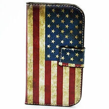 Leather Wallet Case Cover Protective Skin For Samsung Galaxy S3 III Mini i8190