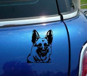 GERMAN SHEPHERD HEAD PORTRAIT DOG FUNNY DECAL STICKER ART CAR WALL DECOR