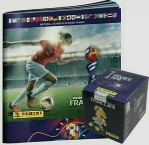 Panini 2019 France Women's World Cup Album and Box (50 Packet /250 stickers NEW