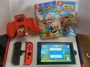 Nintendo Switch Console Gray (Newest Model V2) F Expedited Shipping BUNDLE