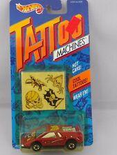 1992 Vintage Hot Wheels Tattoo Machines #3489 Road Pirate Red Basic Wheels