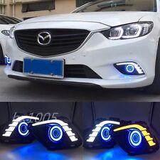 2x LED Daytime Fog Light Projector angel eye kit For Mazda 6 M6 Atenza 2013-2015