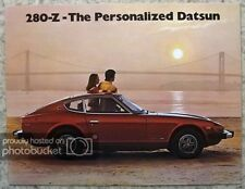 DATSUN 280Z & 280Z 2+2 Sports Car USA Market Sales Brochure 1975