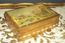 Italian Florentine Gilt Chic Shabby Venice Print Wood Box