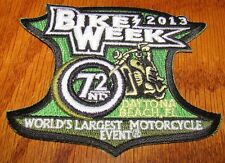 Bike Week Patch Daytona Beach, Fl 2013 72nd World's Largest Motorcycle Event