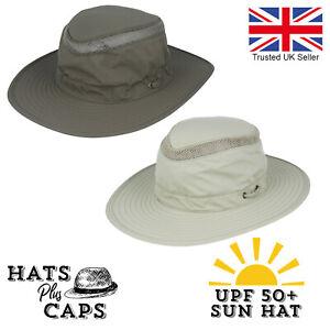 UPF 50+ Aussie Style Sun Hat Bush Fedora Hat Safari Summer Holiday Wide Brim UV