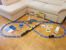 LEGO 725 Eisenbahn 70er Jahre Zug 12V blaue Schienen Bahnhof 148, 133, 741, 755