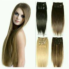 EXTENSION HAIR SET CON CLIP EXTRA LUNGHE  68CM 8 FASCE 120 GRAMMI FANTASTICHE!!