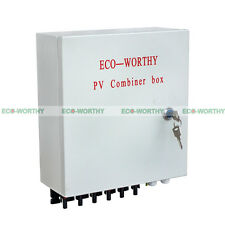 6-String Solar Combiner Box with 10A Circuit Breakers & Lightning/Surge Module