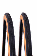 PAIR AMBERWALL TYRES 27 x1-1/4 (32-630) 70's, 80's, RACING BIKE RACER BIKE TREAD