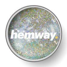 Hemway 1L Chiaro Vernice Glitter Smalto Argento + Oro Olografico pre-verniciato Muro