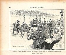 Paris amiral Fiodor Avellan Marine impériale de Russie gare de Lyon GRAVURE 1893