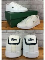 LACOSTE LADIES UK 5 EU 38 CARNABY EVO WHITE NAVY TRAINERS RRP £65 LG