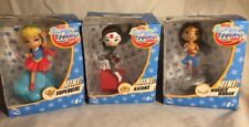 Mattel DC Super Hero Girls Wonder Woman Supergirl Katana Mini Figurines Lot