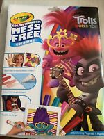 NEW Crayola Color Wonder Trolls World Tour Coloring Book & Markers, Mess Free