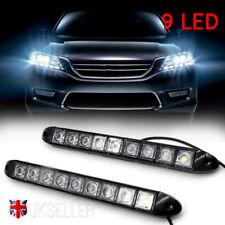 2X Universal 12V 9 LED Daytime Running Lights DRL Car Fog Day Driving Lamp