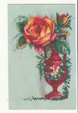 Syrup of Figs Laxative J C Noonan Chico CA Red Vase Rose Vict Card c1880s