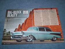 """1957 Chevy 210 Sedan RestoMod Article """"Big-Block Beauty"""""""