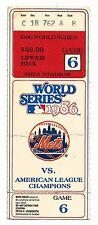 1986 WORLD SERIES GAME 6 TICKET STUB-HOLY GRAIL, BUCKNER! RED SOX  vs METS-RARE