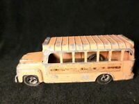 Vintage Metal Orange Hubley School Bus Toy 1960's? Made in the USA