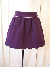ANNIE GRIFFIN COLLECTION CHELESA EGGPLANT SKIRT WITH WHITE TRIM SIZE 4  $216.00