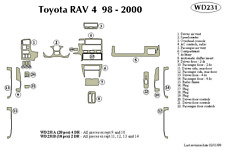 TOYOTA RAV 4 1998 1999 2000 DASH TRIM KIT b