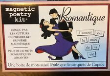 FRENCH Magnetic Poetry Kit - Brand New In Box - Francais Magnetique Romantique
