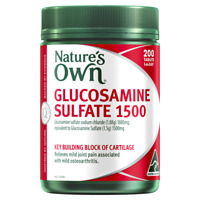 Nature's Own Glucosamine Sulfate 1500 200 Tablets Joint Pain Relief Natures