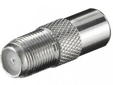 goobay sat tv koax koaxial adapter iec 9,5mm stecker male an f buchse verbinder
