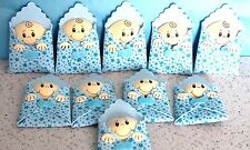 BABY SHOWER BOY PARTY SUPPLY OR DECORATION FOAM FIGURES 10 PACK