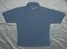 BUNGALOW BRAND Mens Polo Shirt Short Sleeve 3 Button Cotton Blue - Size M