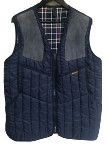 Barbour Quilted Mens Vest Size M Colour Blue Made In England